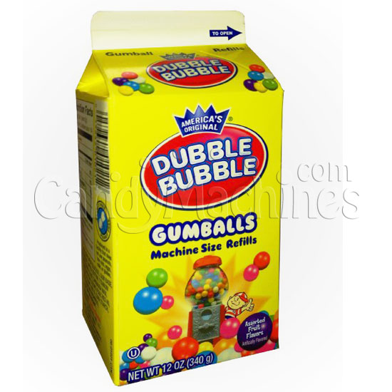 Dubble Bubble Gumball Refill - 12 oz Carton