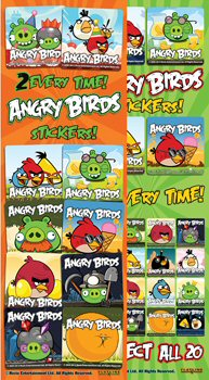Angry Birds Vending Stickers