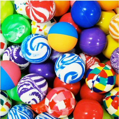 Assorted Mix 45mm Bouncy Balls