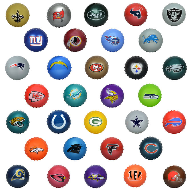 "Knobby Ball 5"" NFL Mix - 250 ct."