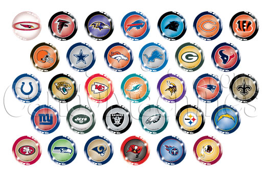 NFL Football 45mm Vending Bouncy Balls