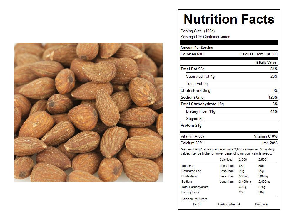 Buy Roasted Unsalted Bulk Almonds