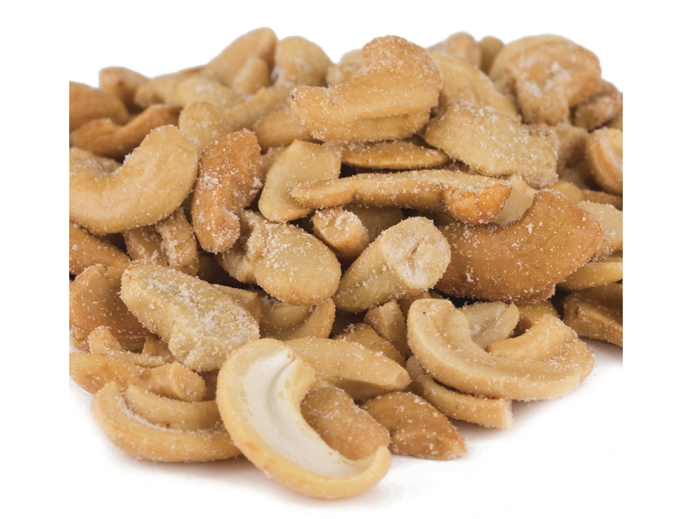 Large Roasted and Salted Bulk Cashew Pieces (25 lbs)