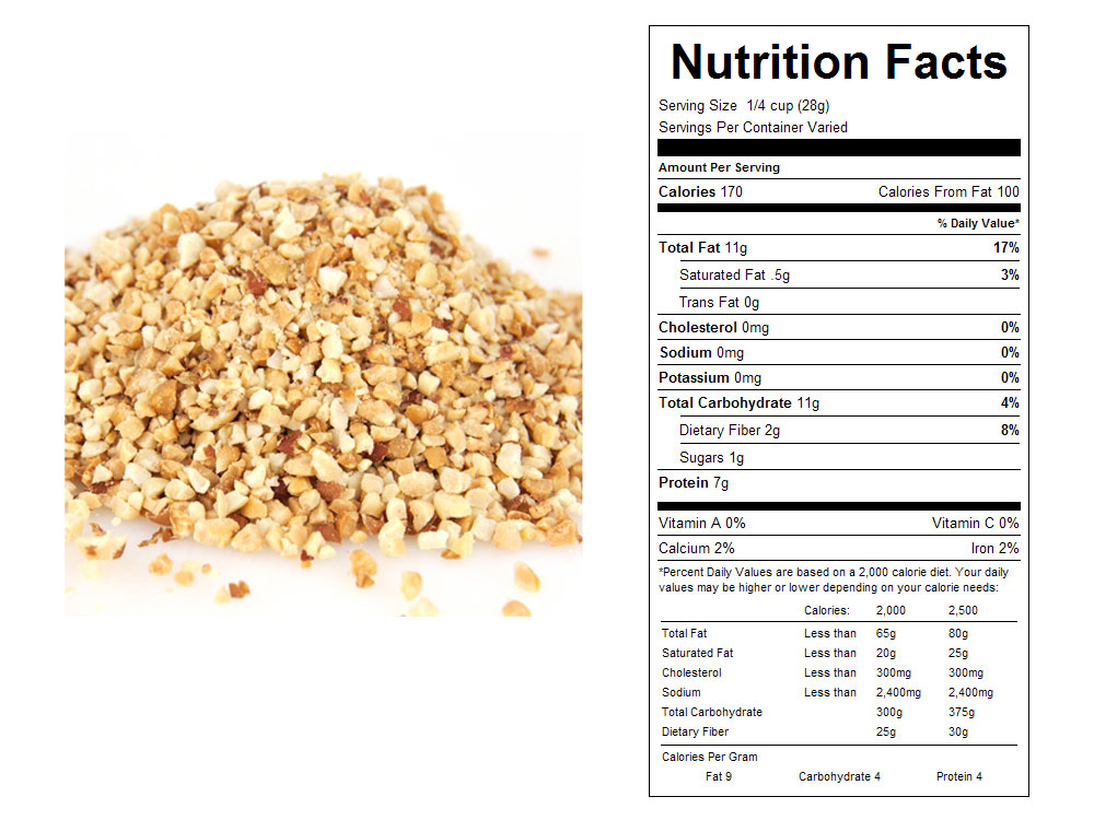 Dry Roasted Granulated Bulk Peanuts - Nutrition Facts