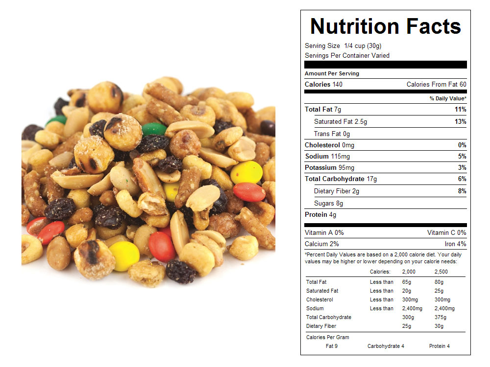 Cabin Crunch Bulk Snack Mix Nutritional Facts