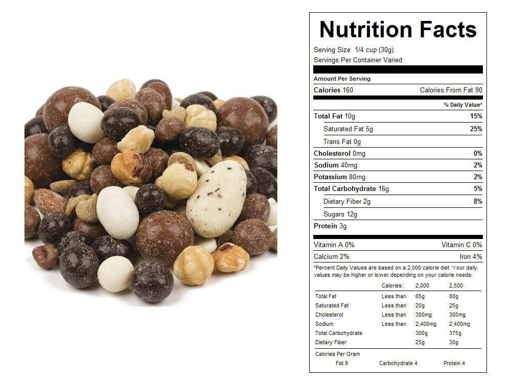 Cappuccino Bulk Snack Mix Nutritional Facts