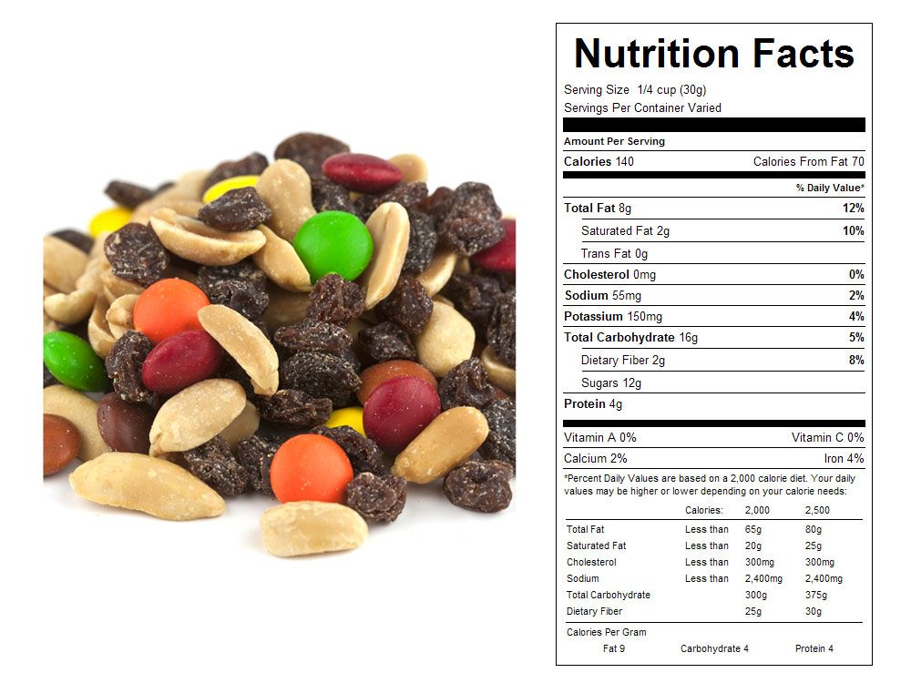 Classic  Bulk Trail Mix Nutritional Facts