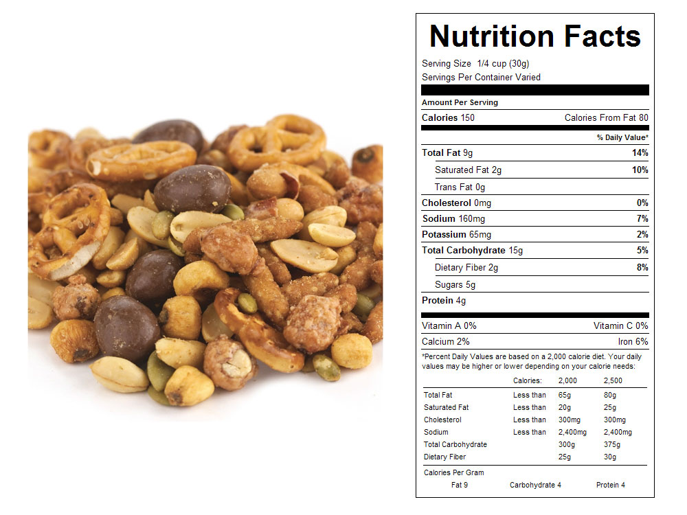 Honey Nut Supreme Bulk Snack Mix Nutritional Facts