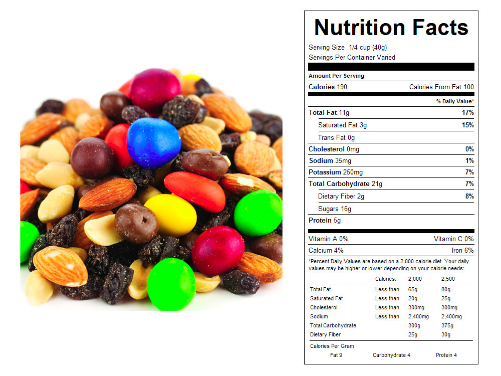 Sweet Temptations Bulk Snack Mix Nutritional Facts