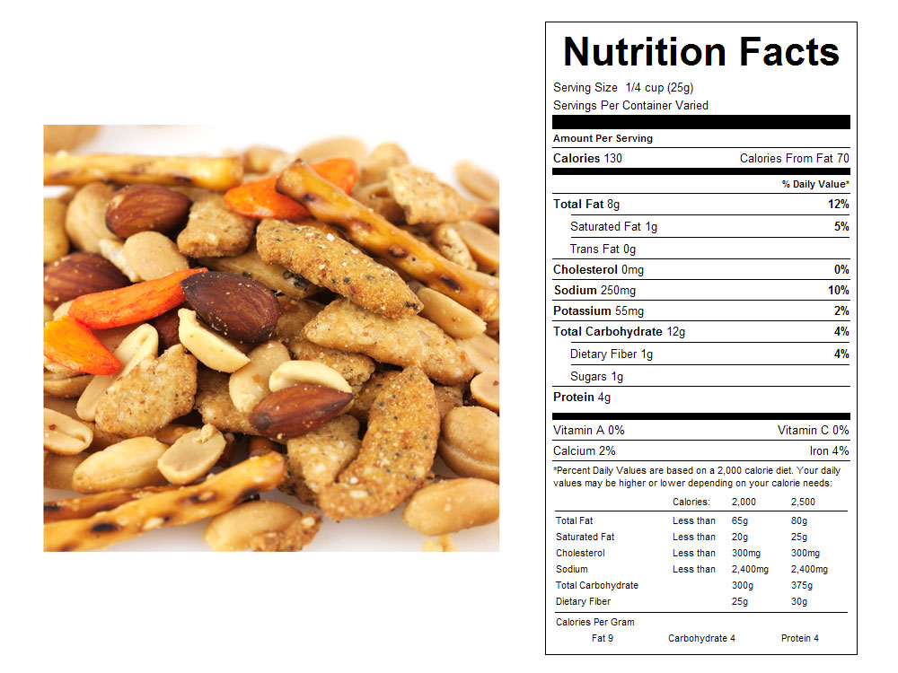 Tailgate Crunch Bulk Snack Mix Nutritional Facts