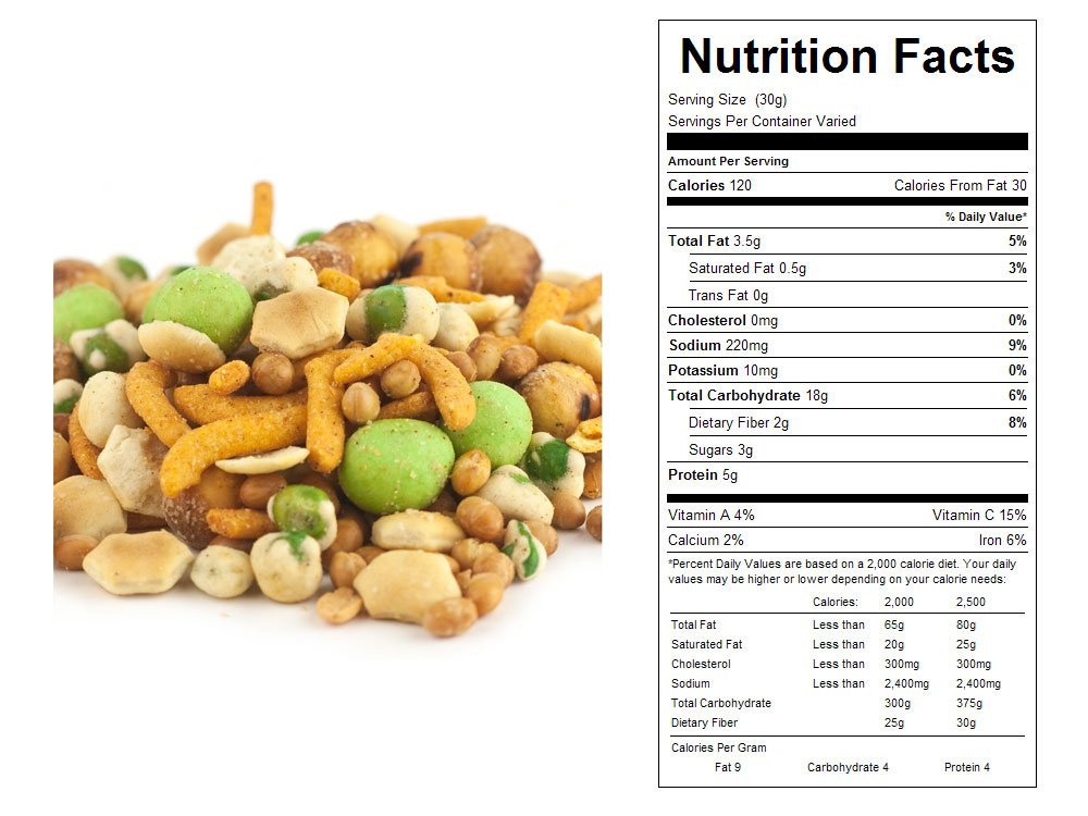 Wasabi Bulk Trail Mix Nutritional Facts