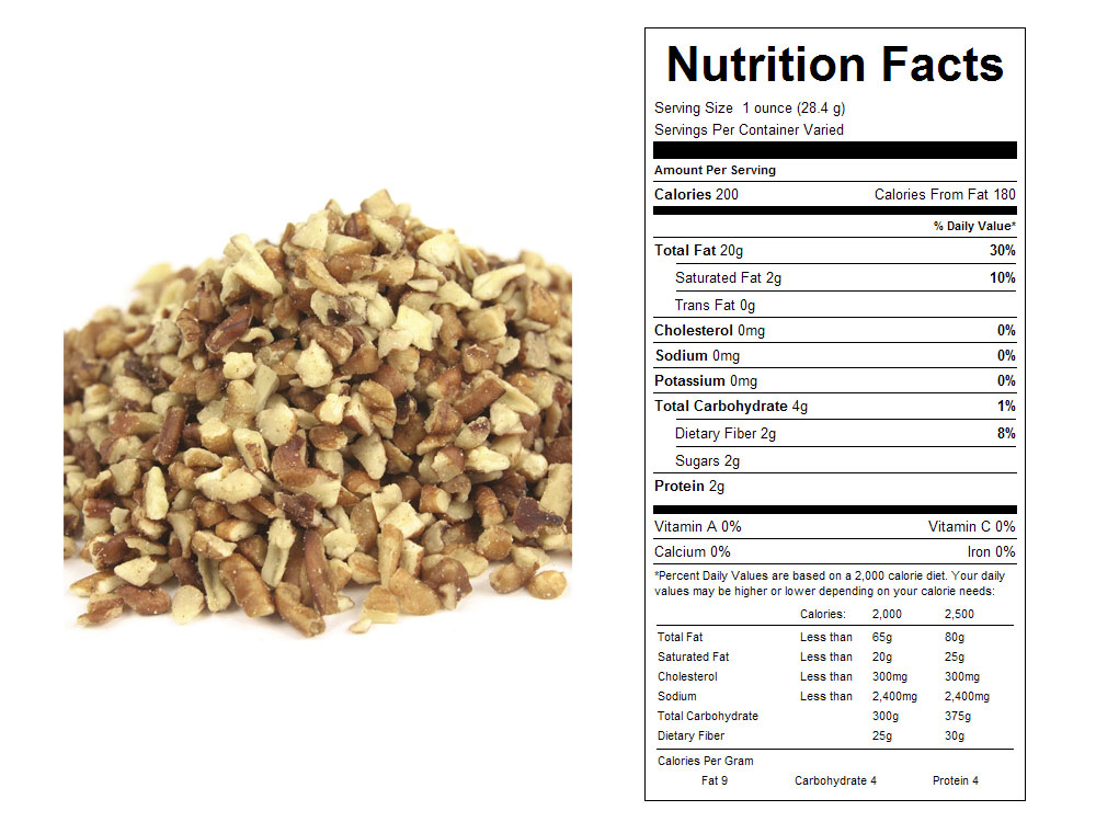 Fancy Small Bulk Pecan Pieces Nutritional Facts