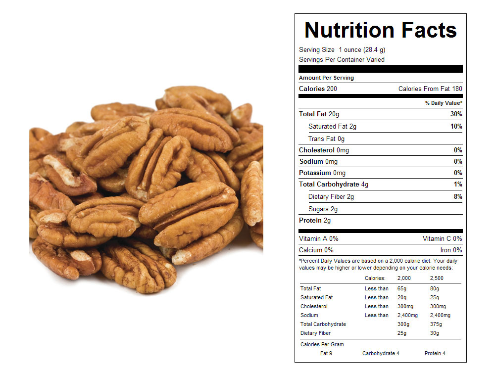 Mammoth Bulk Pecan Halves Nutritional Facts