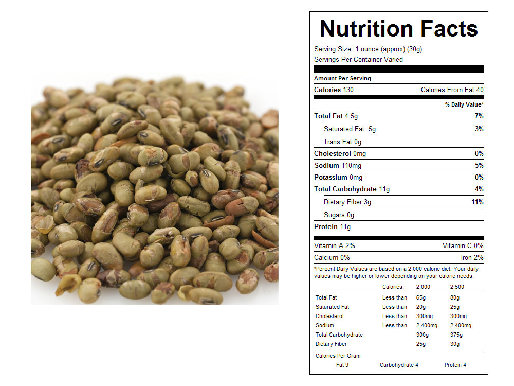 Roasted and Salted Bulk Edamame Nutritional Facts