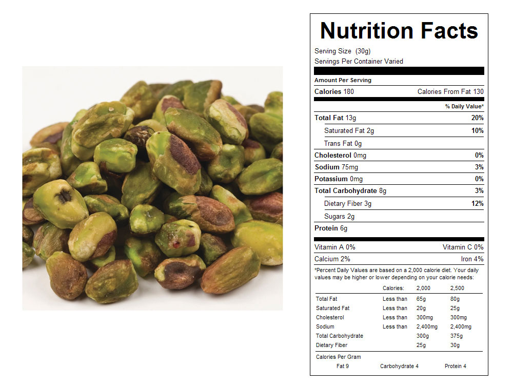 Roasted and Salted Shelled Bulk Pistachios