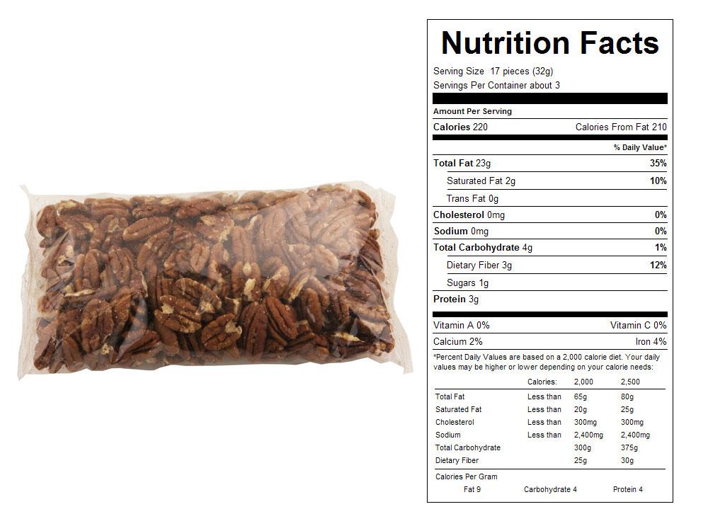 Buy Jr. Mammoth Packaged Pecan Halves
