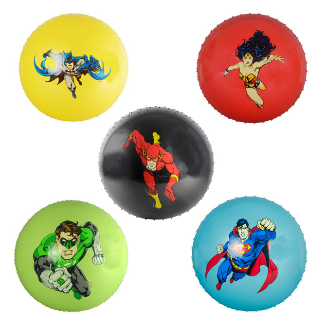 DC Comics 18 inch Assorted Knobby Balls (48 ct)