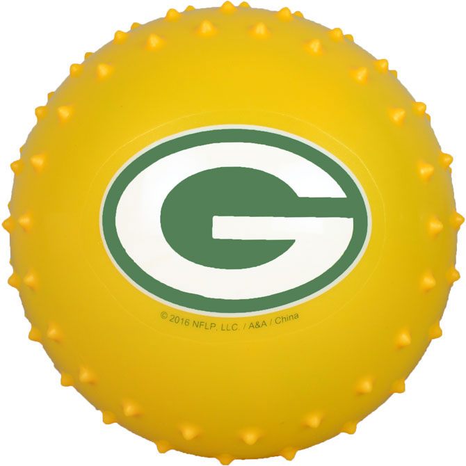 Green Bay Packers NFL 5 inch Knobby Balls (100 ct)