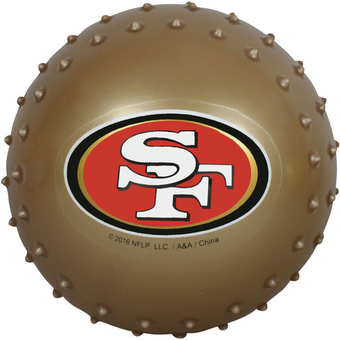 San Francisco 49ers NFL 5 inch Knobby Balls (100 ct)
