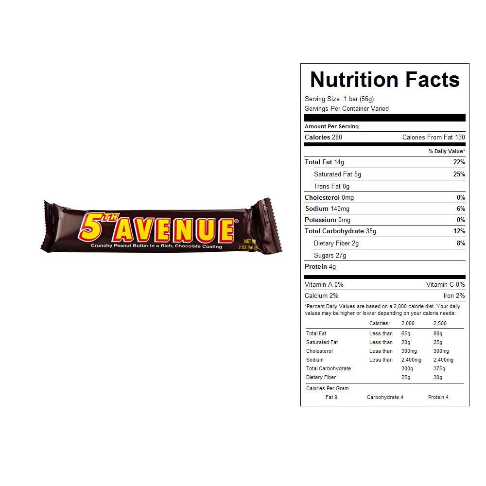 5th Avenue Bars (18 ct)
