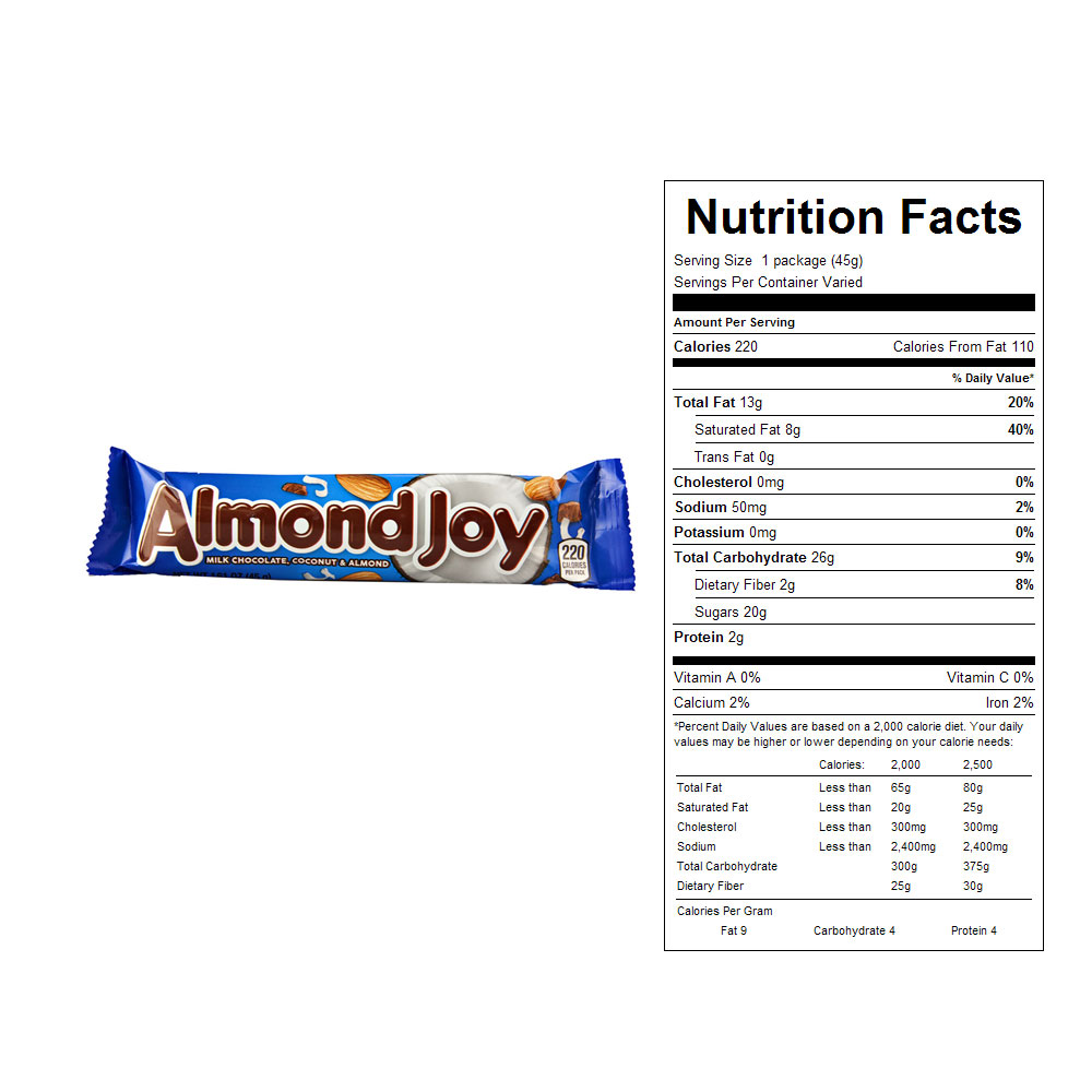 Almond Joy Candy Bars (36 ct)