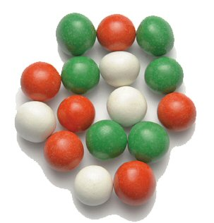 Chocolate Alpine Mints - Red, Green & White