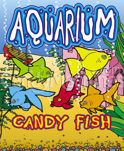 Aquarium Fish Candy Vending Display Card