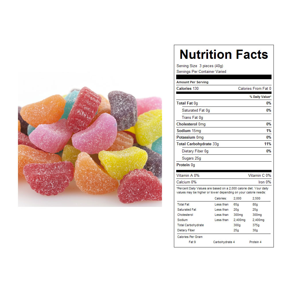 Assorted Sour Slices Bulk Candy (31 lbs)