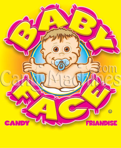Baby Face Pacifier Candy Vending Display Card