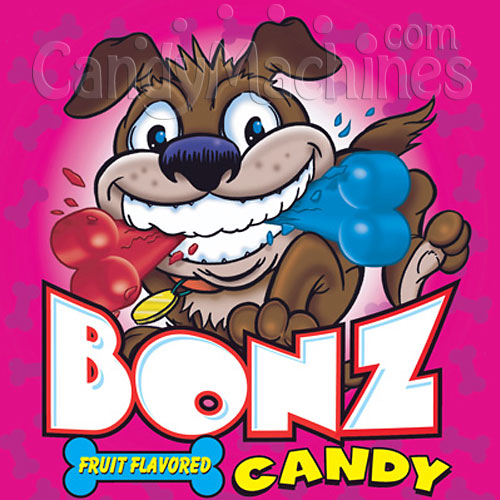 Bonz Candy Bulk Vending Display Card