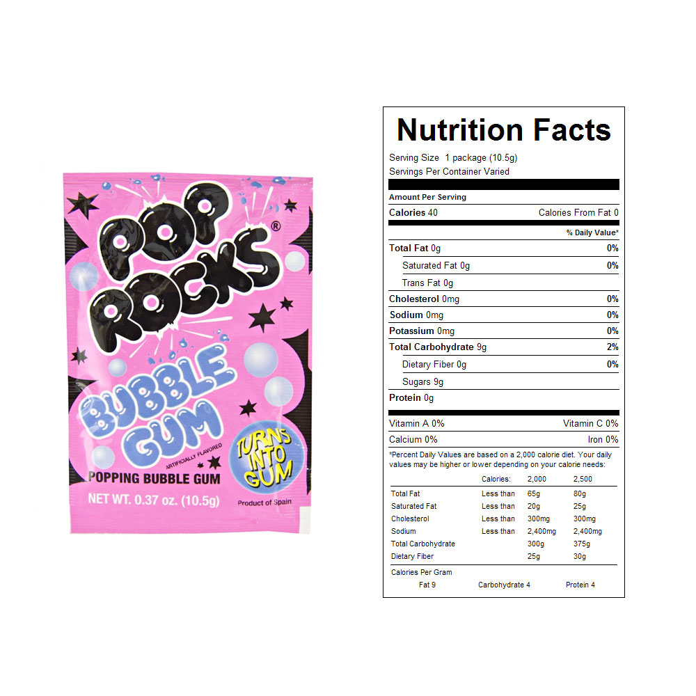 Bubble Gum Pop Rocks Bulk Candy (24 ct)