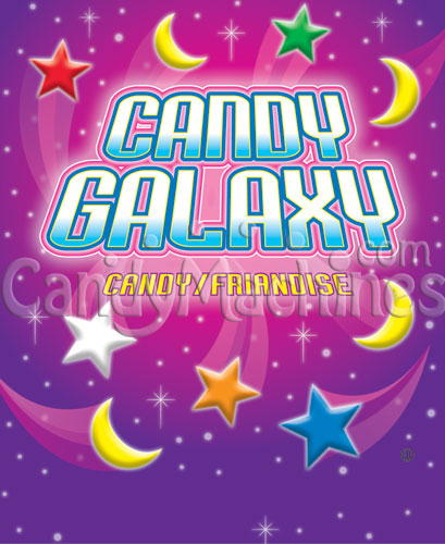 Candy Galaxy Bulk Candy Vending Display Card