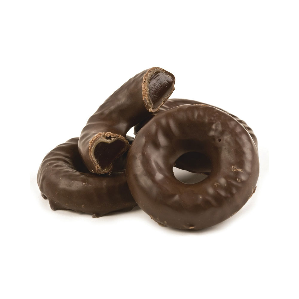 Chocolate Covered Orange Jell Rings Bulk Candy (5 lbs)
