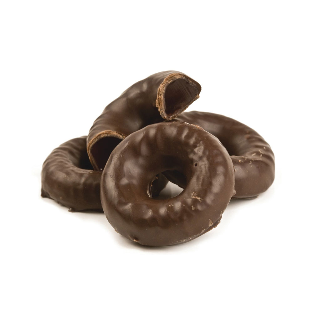Chocolate Covered Raspberry Jell Rings Bulk Candy (5 lbs)