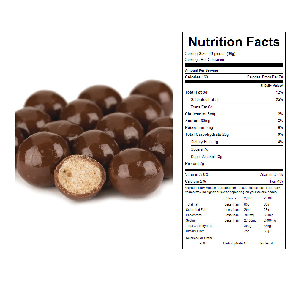 Milk Chocolate Dipped Malt Balls (10 lb)