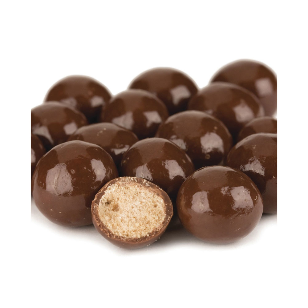 Milk Chocolate Dipped Malt Balls in Bulk - No Sugar Added (10 lbs)