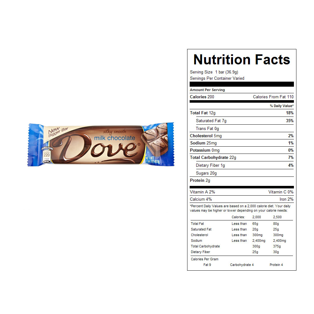Dove Milk Chocolate Candy Bars (18 ct)