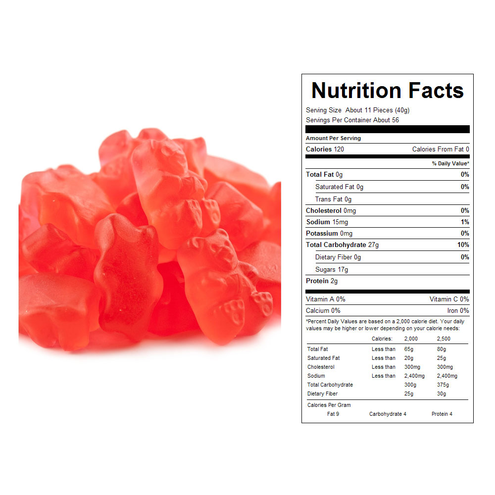 Fresh Strawberry Gummy Bears (20 lbs)