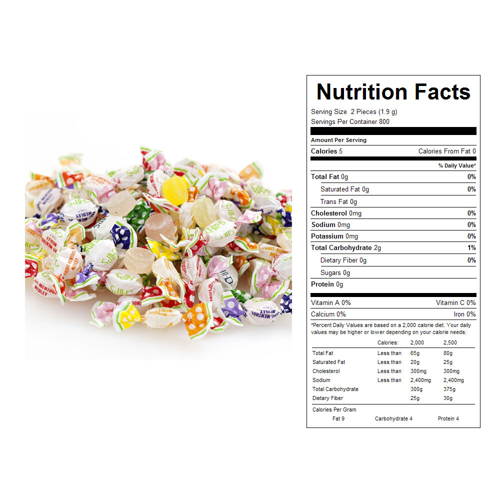 Assorted Menthol Fruit Mints in Bulk (54.5 oz)