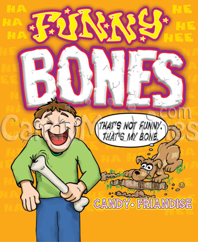 Funny Bones Candy Vending Display Card