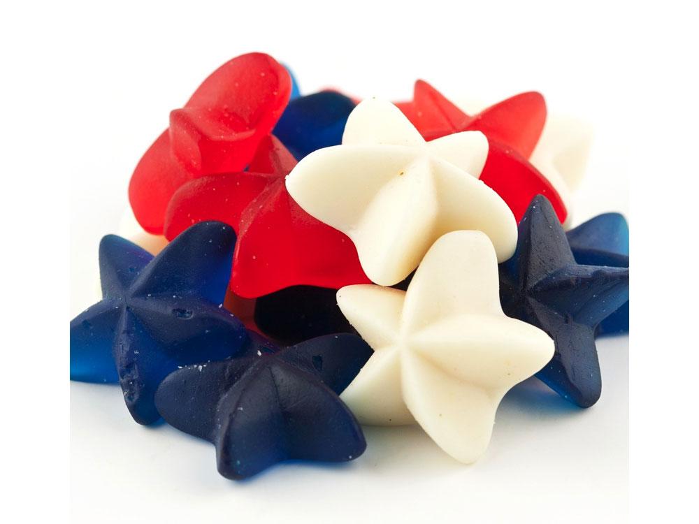 Patriotic Gummy Stars Bulk Candy (20 lbs)