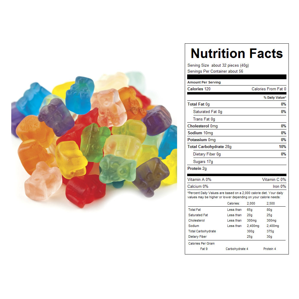 Gummy Bear Cubs Bulk Candy (5 lbs)