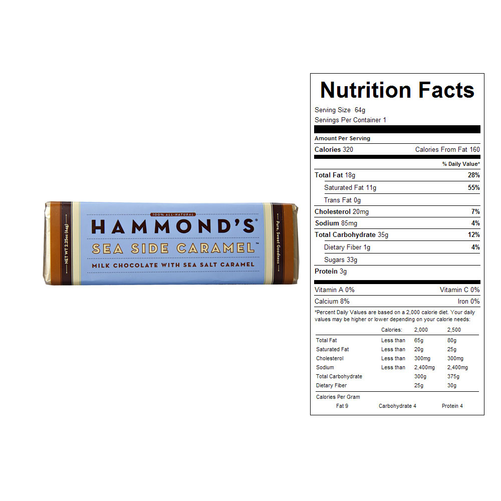 Hammond's Sea Side Caramel Candy Bars (12 ct)
