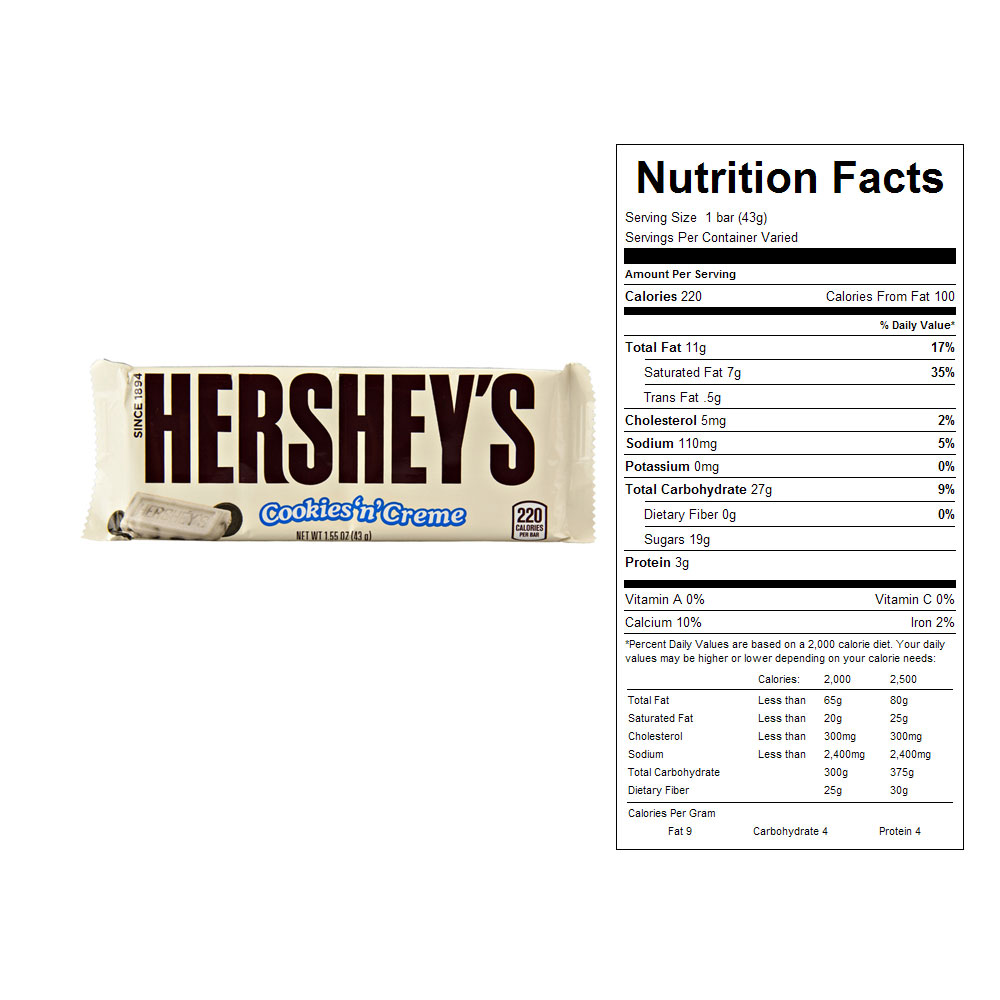 Hershey's Cookies 'n' Creme Candy Bars (36 ct)