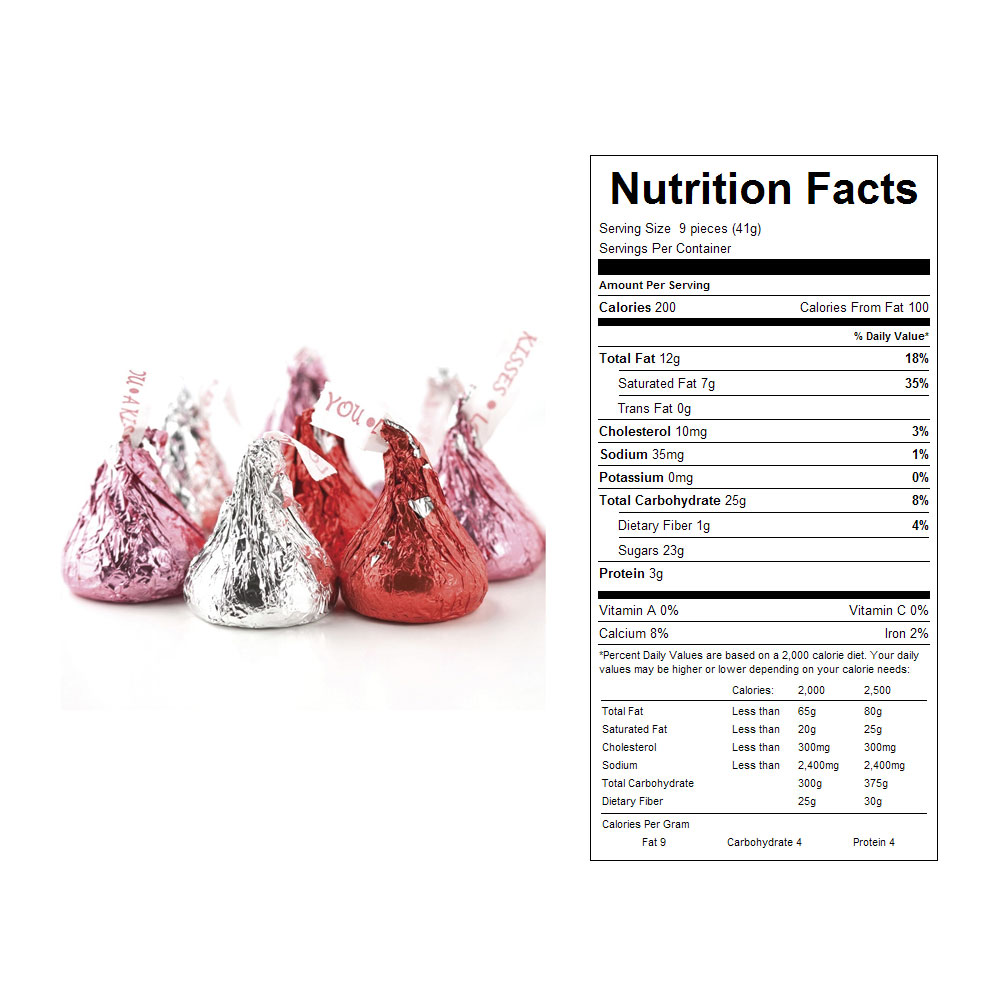 Hershey's Kisses, Red/Silver/Pink Bulk Candy (25 lbs)