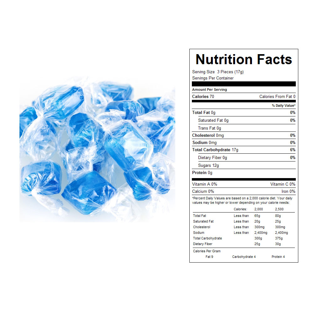 Ice Blue Mints Bulk Candy (10 lbs)