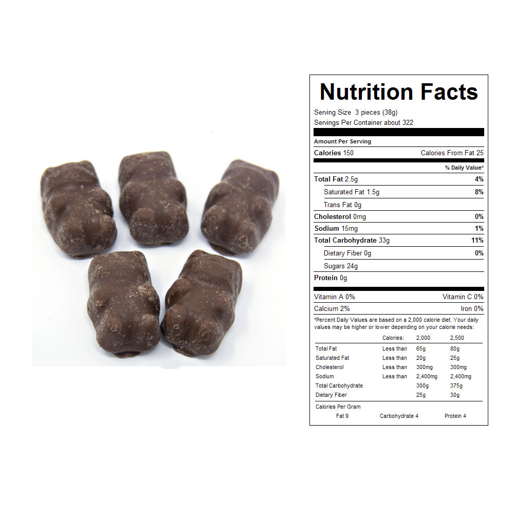 Milk Chocolate Ju Ju Cinnamon Bears Bulk Candy (15 lbs)