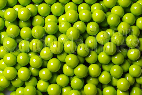 Lime Green Sixlets Candy Coated Chocolate Balls