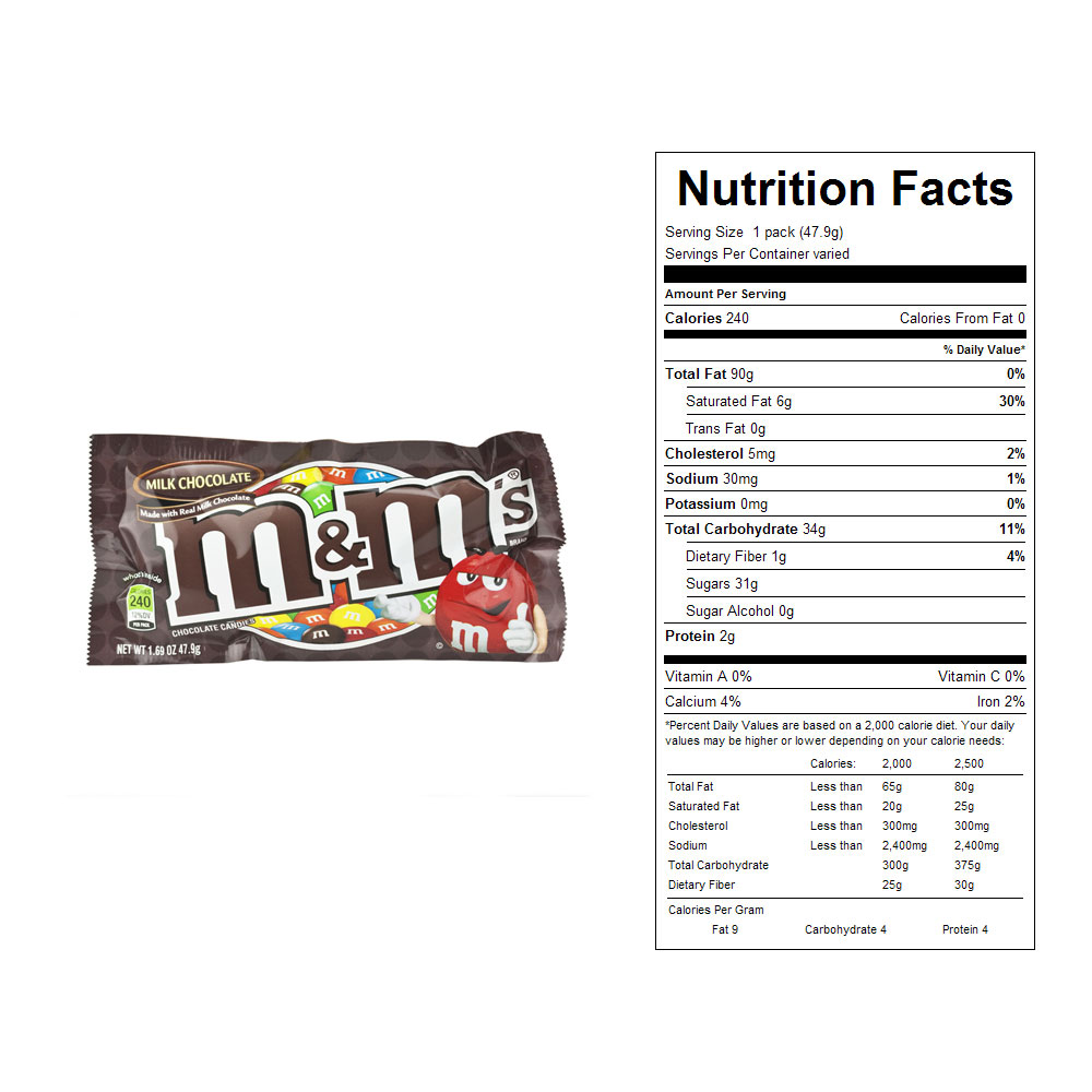 M&M's Milk Chocolate Candies (36 ct)