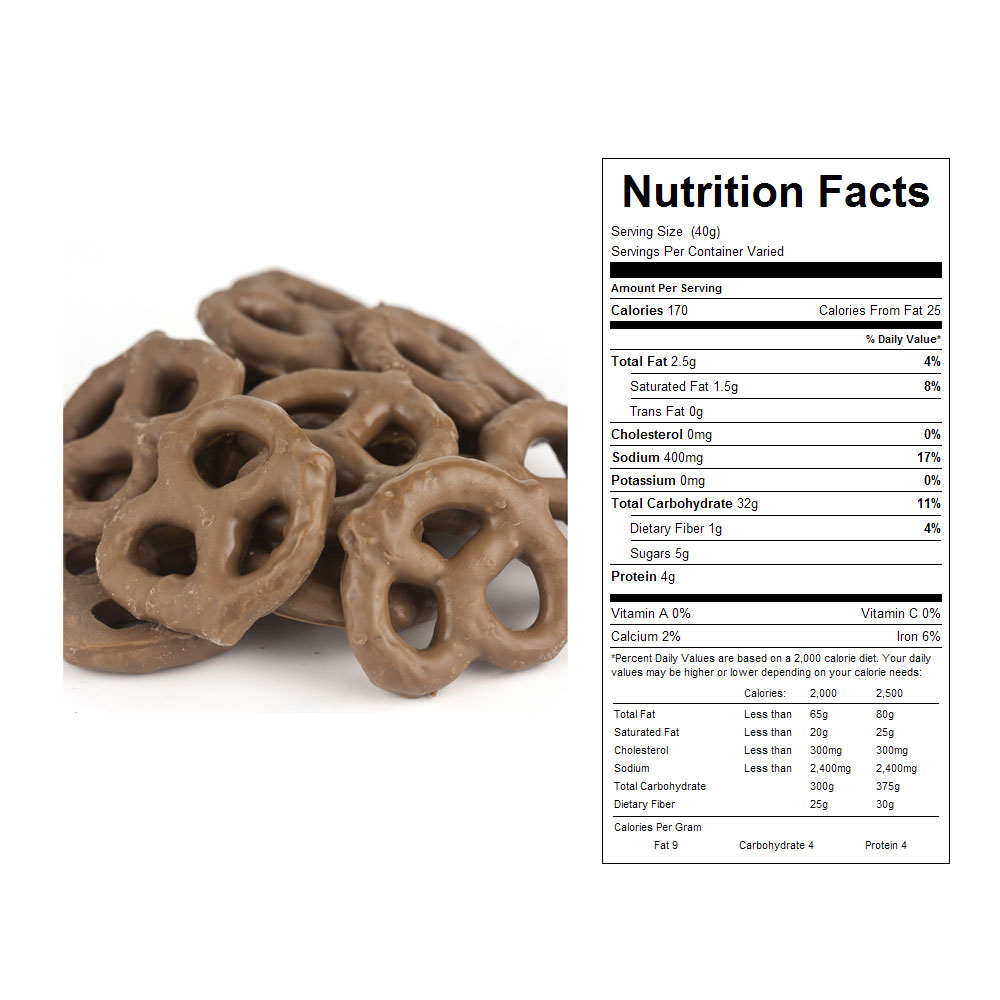 Milk Chocolate Covered Mini Pretzels Bulk Candy (10 lbs)